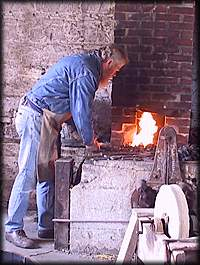 Art Shaw blacksmithing - photo by: Ken W. Watson
