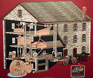 Cutaway View of the Old Stone Mill