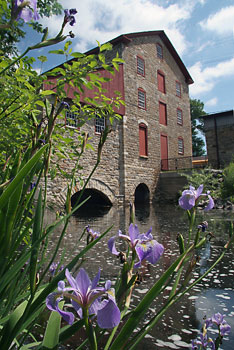 view of the Old Stone Mill from the water - photo by: Ken W. Watson